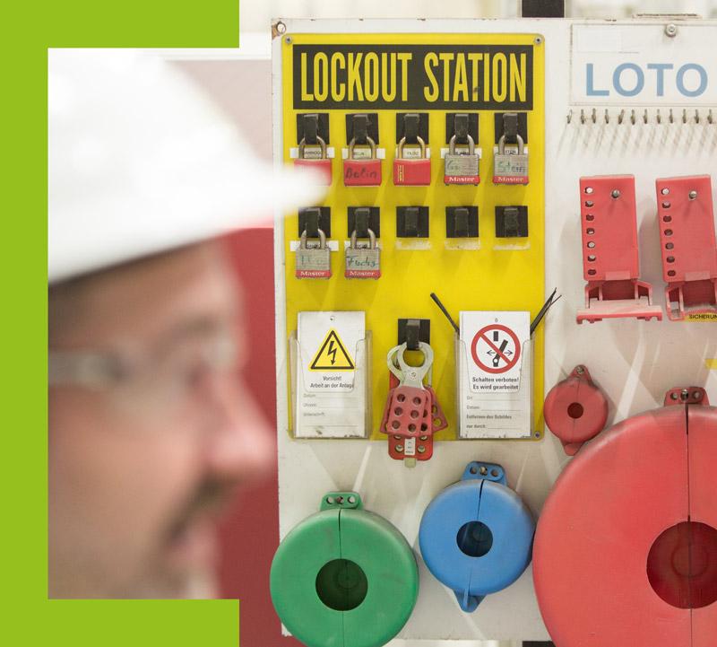 HSE; Arbeitssicherheit; CE Kennzeichnung; LOTO; Lockout Tagout