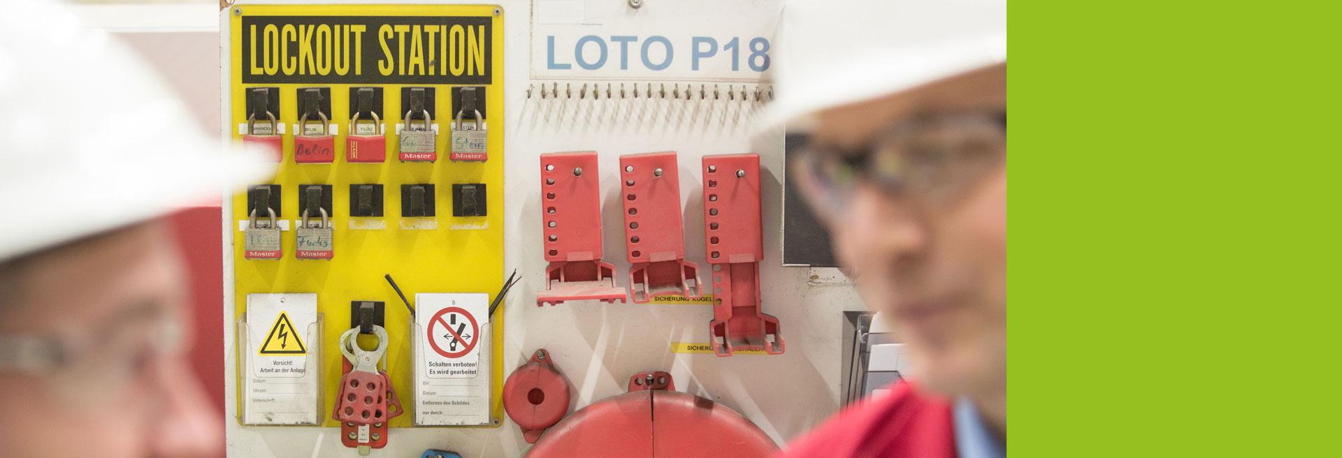 LOTO Lock out Tag out CE-Kennzeichnung Arbeitssicherheit HSE