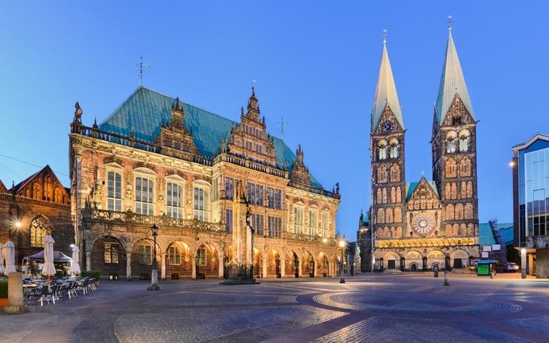 Ansicht Rathaus und Dom Bremen