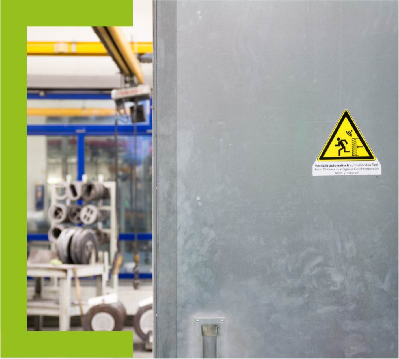 Sicherheitstechnische Beurteilung einer eingebauten Maschine
