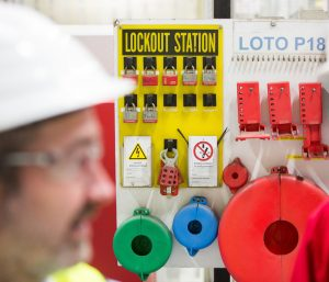loto procedures at a clients factory